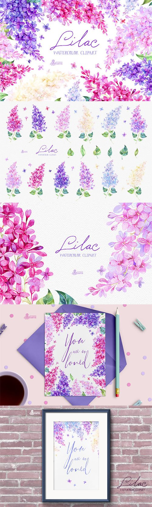 Lilac bathroom accessories