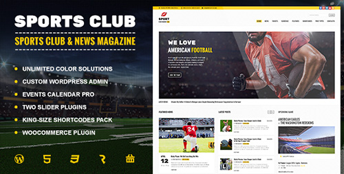 ThemeForest - Sports Club v1.0.0 - Football, Soccer, Sport News Theme - 13841253