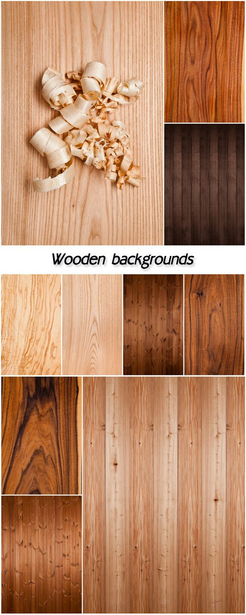 Wooden backgrounds of different textures