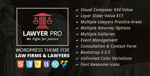 THEMEFOREST - LAWYER PRO V1.0 - RESPONSIVE WORDPRESS THEME FOR LAWYERS - 14049613
