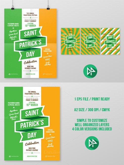 St. Patrick's Party Poster - Creativemarket 42540