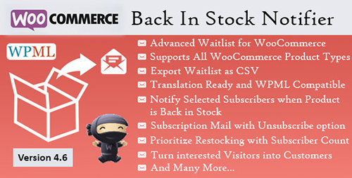 CodeCanyon - Back In Stock Notifier v7.9 - WooCommerce Waitlist Pro - 7054649