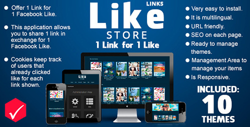 CodeCanyon - Like Store Links v1.2.0 - 1 Link for just 1 Like - 7836819
