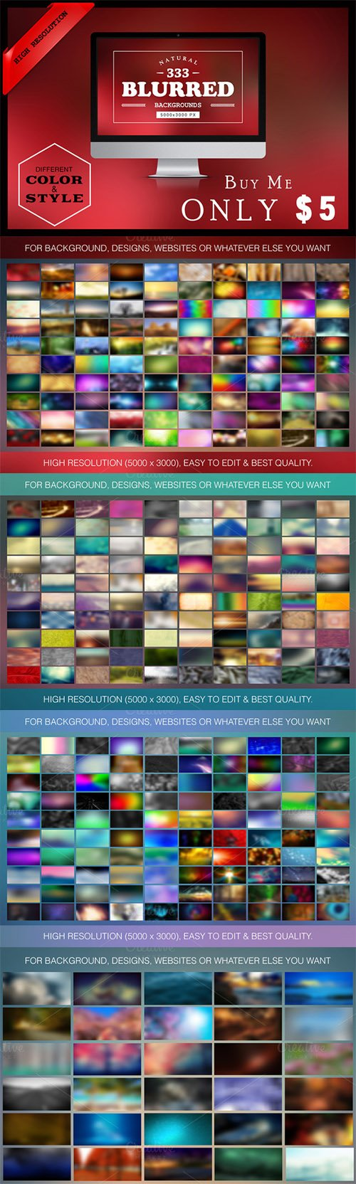 300+ Free(33)Blurred Backgrounds - Creativemarket 303886