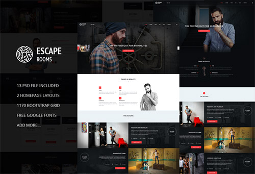Escape Room - PSD Template - CM 552744