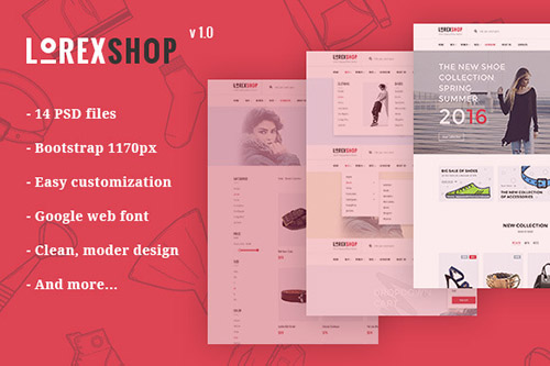 LOREX v1.0 - E-commerce PSD Templates - CM 549801