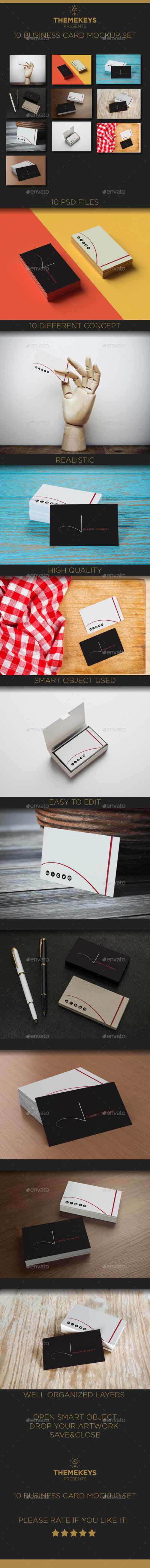 10 Great Business Card Mock-up Pack 14889473