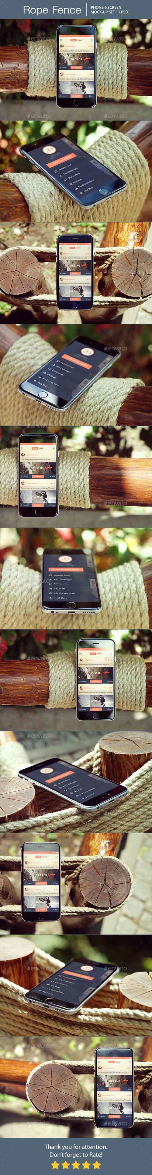 Rope Fence iPhone 6 Mockup 14164235