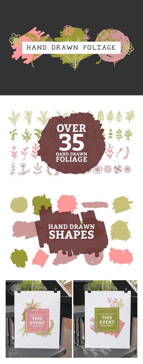 Hand drawn foliage vol. 2 - Creativemarket 404947