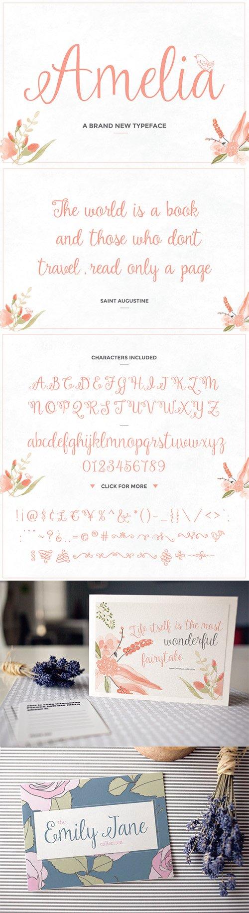 Amelia Script - Creativemarket 150785