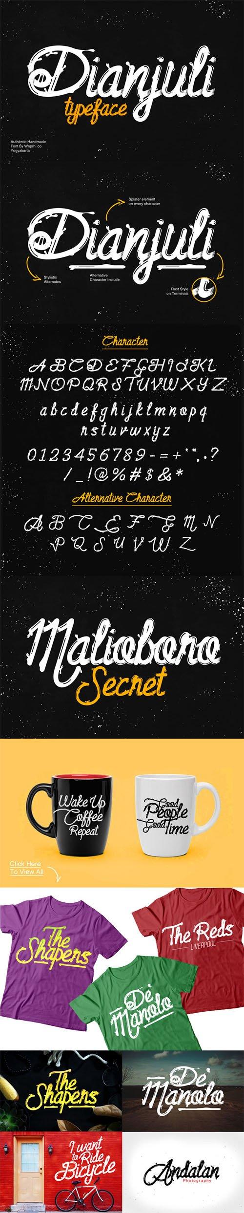 Dianjuli Typeface - Creativemarket 430704