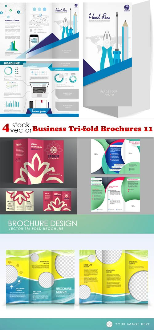 Vectors - Business Tri-fold Brochures 11