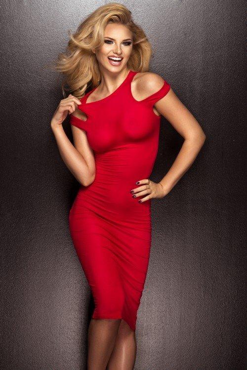 beautiful blonde in a red dress  u00bb nitrogfx