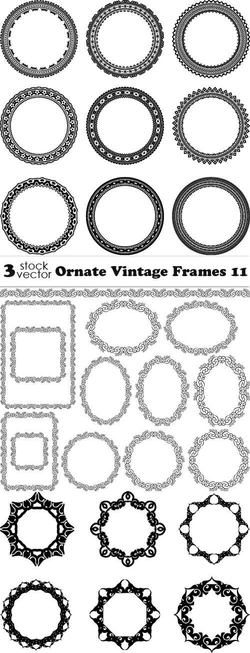 Vectors - Ornate Vintage Frames 11