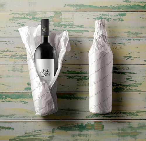Wine Bottle Paper Wrap 187 Nitrogfx Download Unique