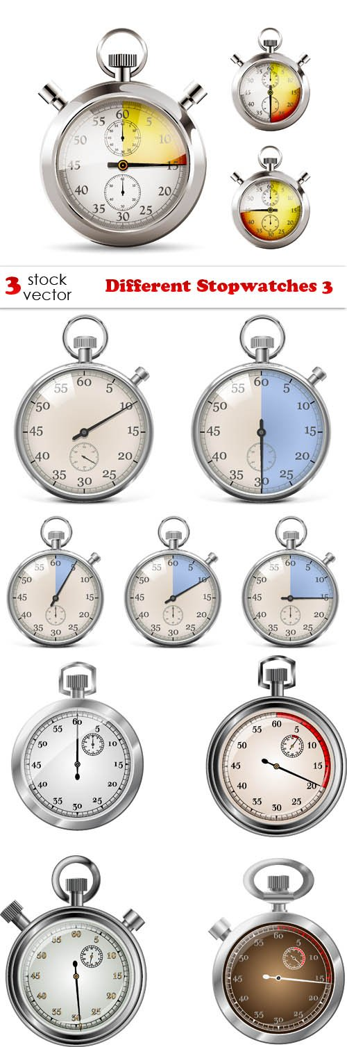 Vectors - Different Stopwatches 3