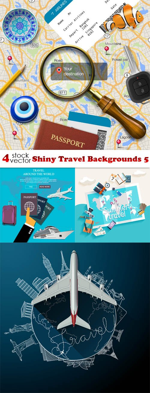Vectors - Shiny Travel Backgrounds 5