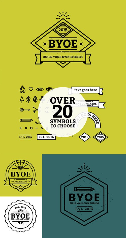 BYOE: Build Your Own Emblem - Creativemarket 395802