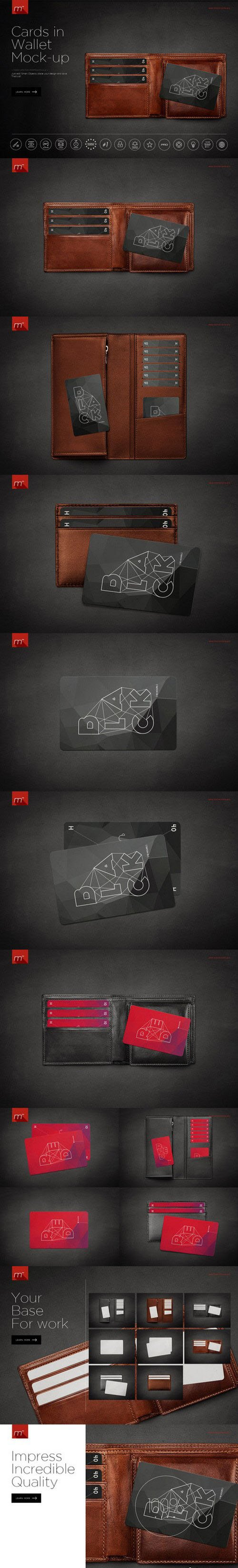 Cards in Wallet Mock-up - Creativemarket 523029