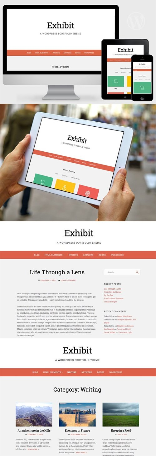 Exhibit v1.0 - WordPress Portfolio Theme - Creativemarket 348846