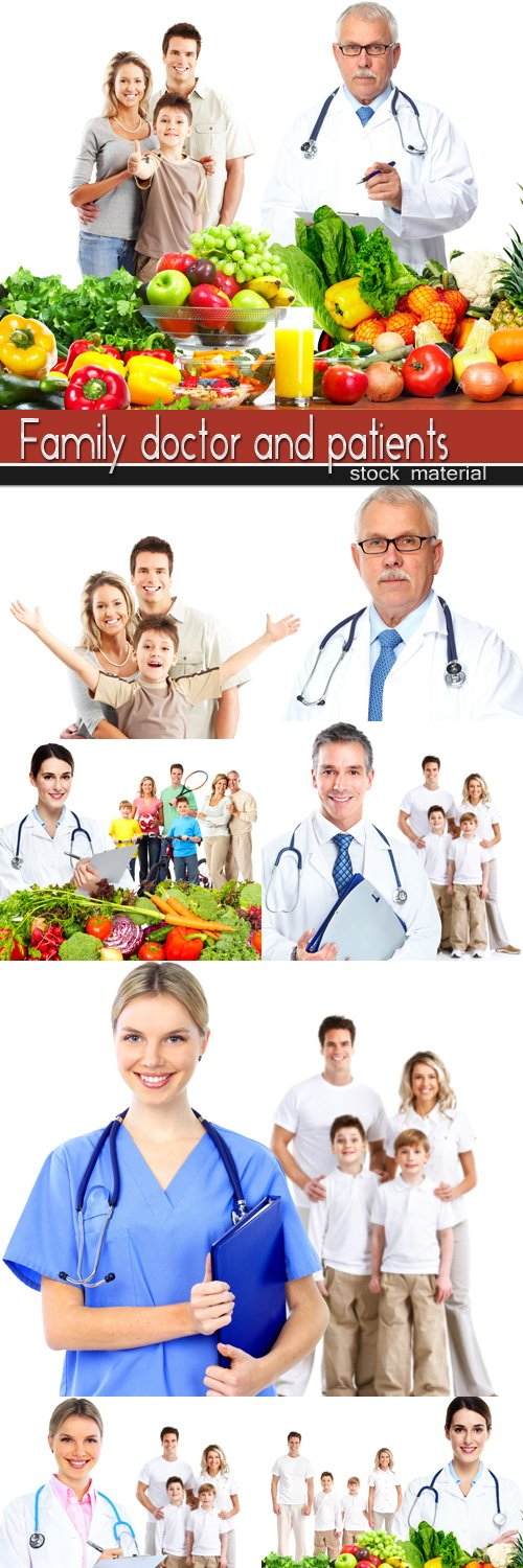 Family doctor and patients