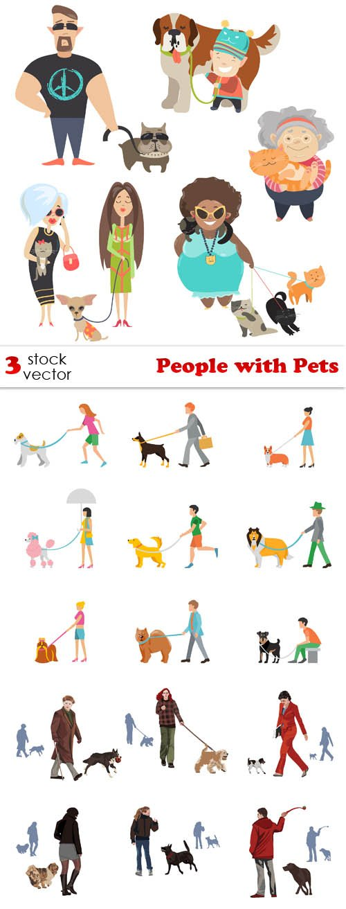 Vectors - People with Pets