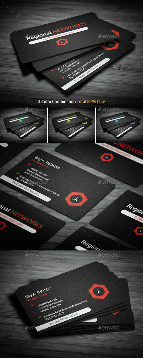 Black Corporate Business Card 14917912