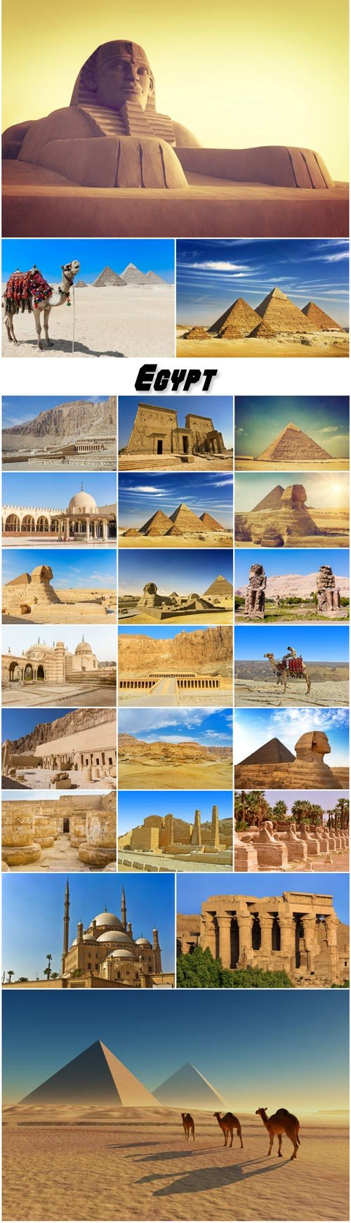 Egypt, sphinx and pyramid