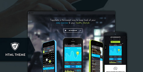ThemeForest - Tapptastic - Mobile App HTML Theme (Update: 26 June 15) - 8012793