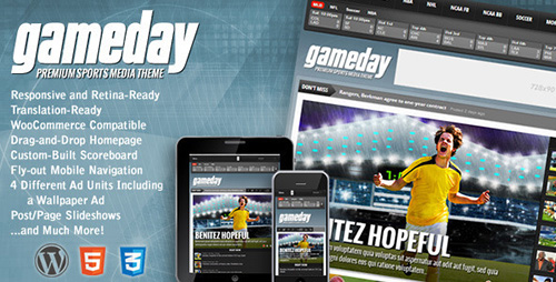 ThemeForest - Gameday v3.0 - WordPress Sports Media Theme - 3777874