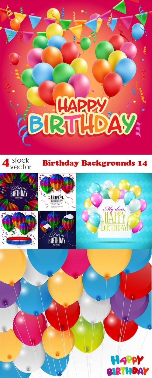 Vectors - Birthday Backgrounds 14