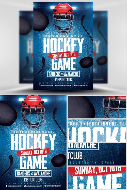 Flyer Template Ice Hockey 2 Heroturko Download