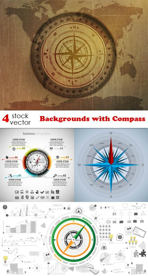 Vectors - Backgrounds with Compass
