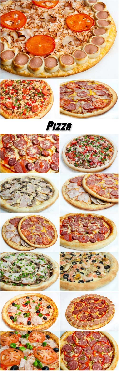 Pizza, different kinds of pizzas to the menu of restaurant and pizzeria