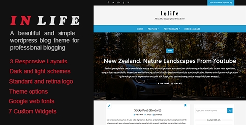ThemeForest - InLife v1.0 - A Beautiful Blogging WordPress Theme - 15144801