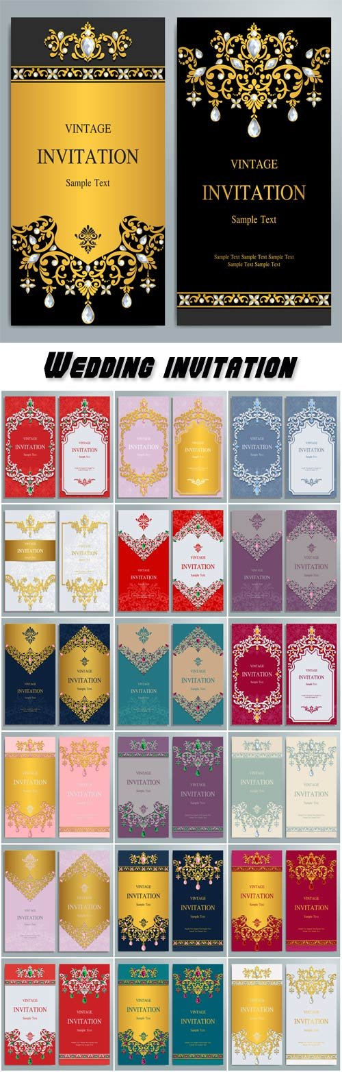 Wedding invitation or card with abstract background, islam, arabic, indian
