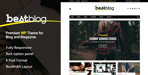 ThemeForest - BestBlog v1.0 - Responsive WordPress Blog Theme - 11028669