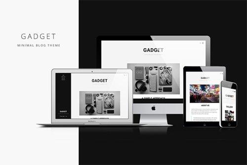 Gadget v1.2 - Minimal Blog Theme - Creativemarket 252763