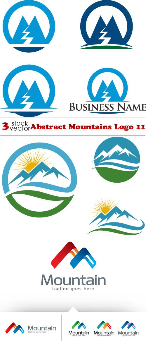 Vectors - Abstract Mountains Logo 11