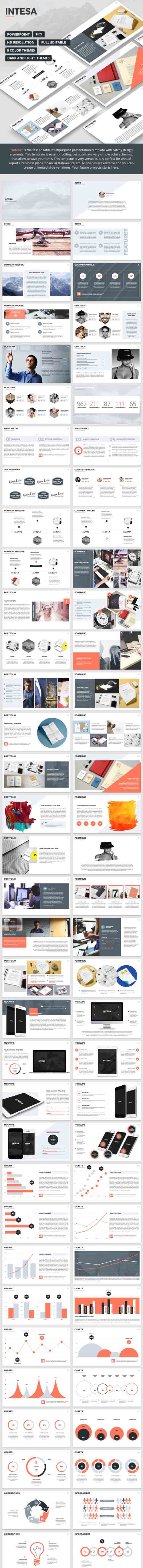 Intesa - PowerPoint Template 15331363