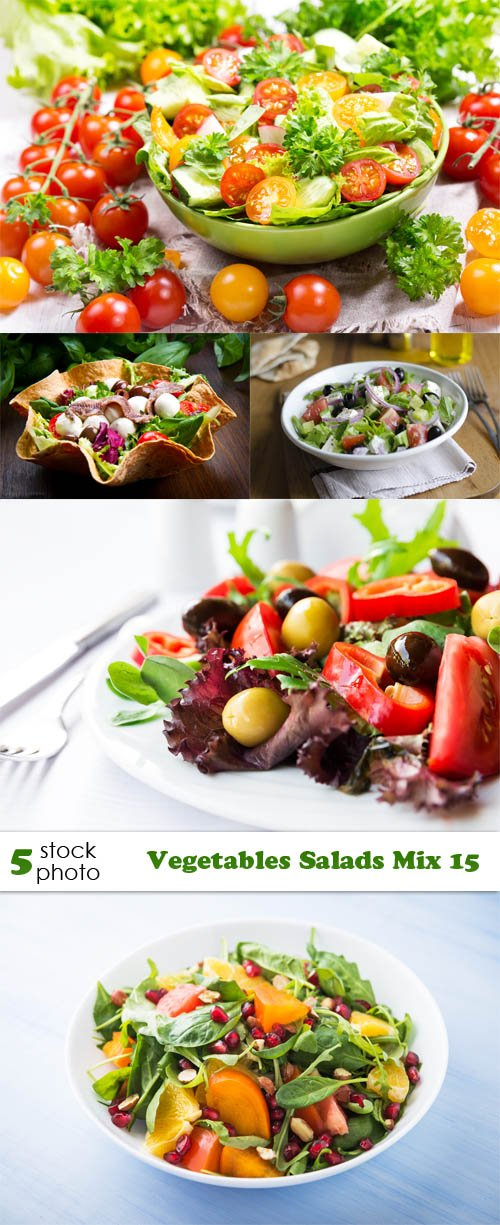 Photos - Vegetables Salads Mix 15