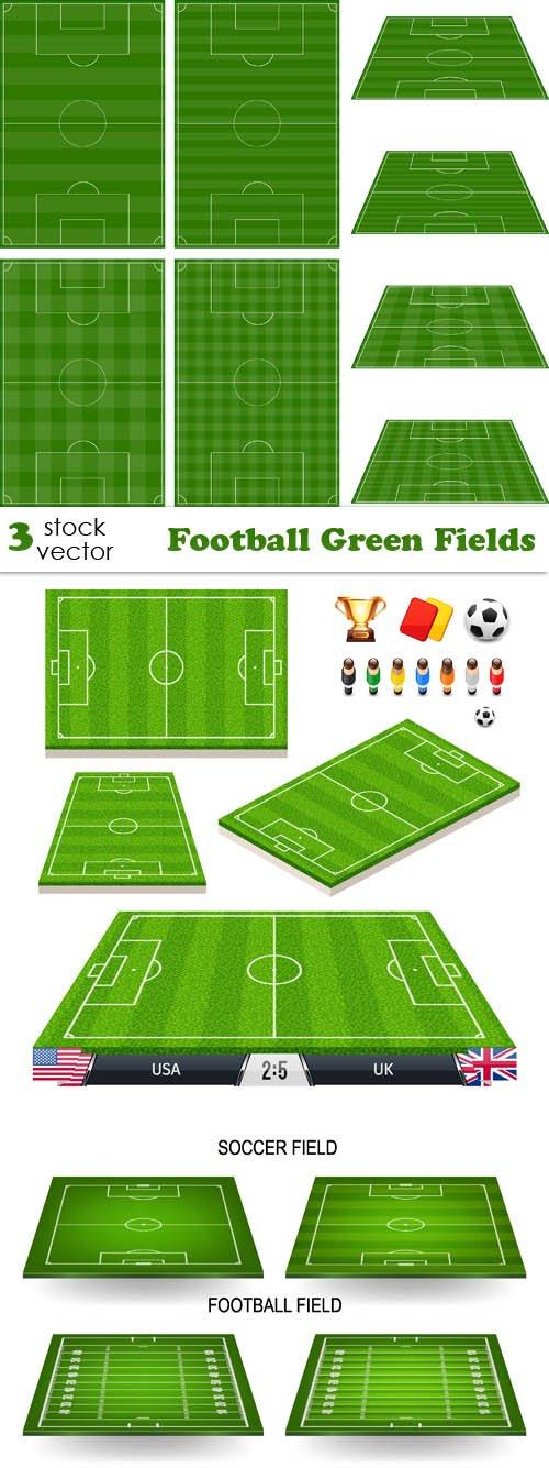 Vectors - Football Green Fields