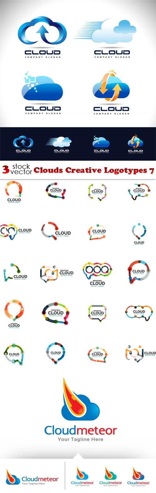 Vectors - Clouds Creative Logotypes 7