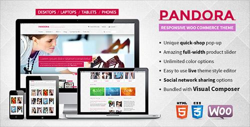 ThemeForest - Pandora v1.1.21 - Responsive WooCommerce HTML5 Theme - 5315097