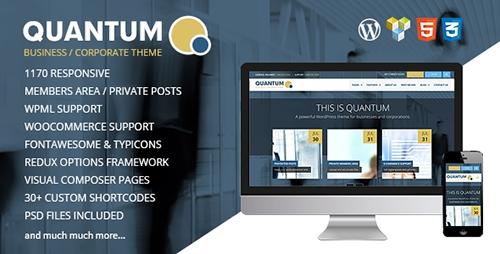 ThemeForest - QUANTUM v1.9.6 - Responsive Business WordPress Theme - 8548354