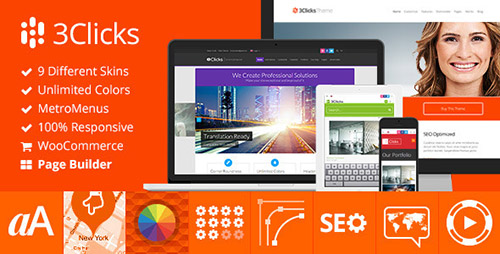 ThemeForest - 3Clicks v3.9 - Responsive Multi-Purpose WordPress Theme - 5092225