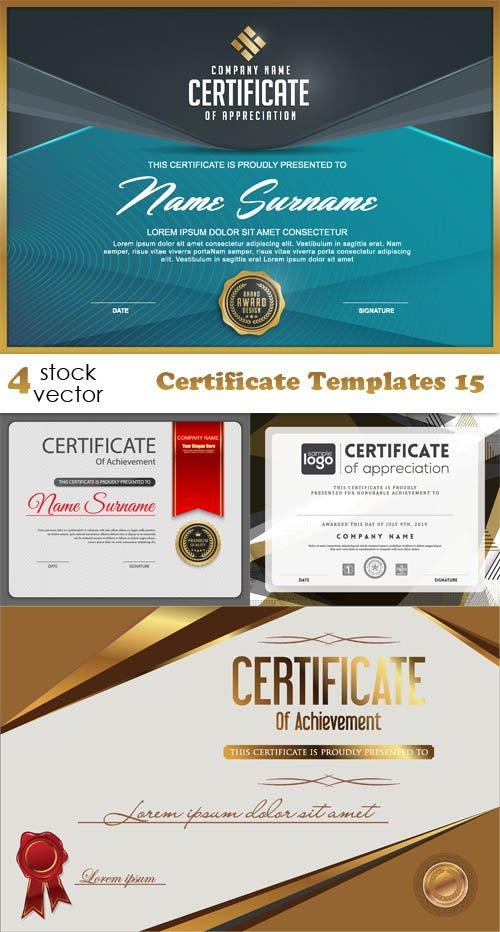 Vectors - Certificate Templates 15