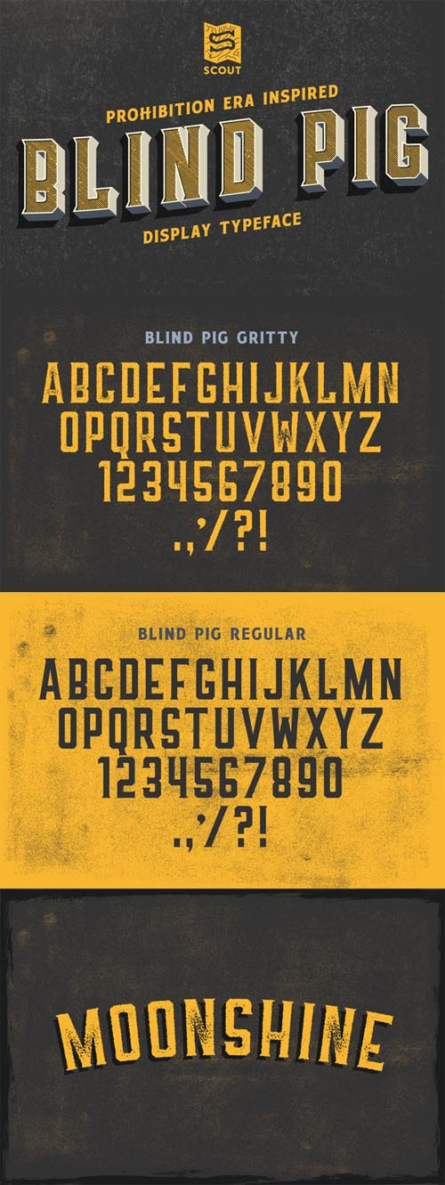 Blind Pig Display Font 622452