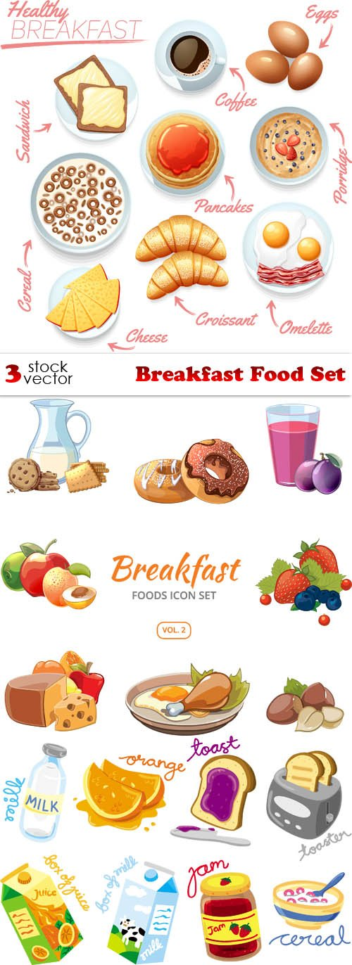 Vectors - Breakfast Food Set