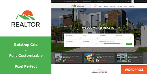 ThemeForest - Realtor v1.2.7 - Responsive Real Estate WordPress Theme - 12265112